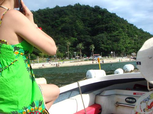 jud à Hiroshima - en bateau